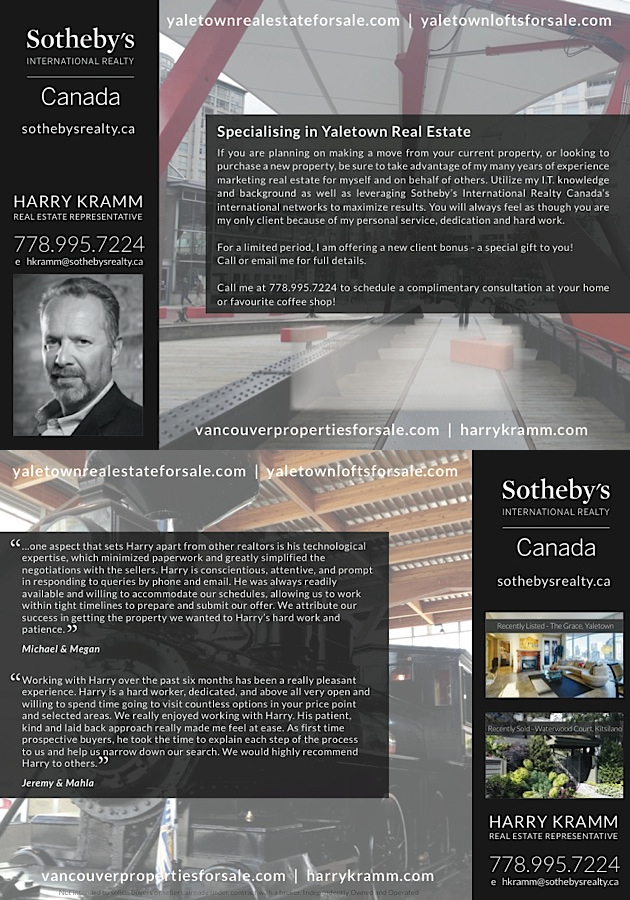 Harry Kramm - Yaletown Real Estate for Sale